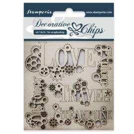 Stamperia Decorative Chips Sentiments (SCB36)