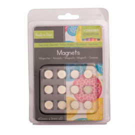 1617-125-Vaessen Creative - Magneet Ni35 superstrong- Ø12x1mm- 12pcs