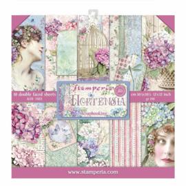 SBBL72-Stamperia Hortensia 12x12 Inch Paper Pack