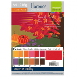 2927-303-Florence - Cardstock smooth- A4- 60 vellen-Autumn