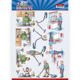 CD11479-    3D Cutting sheet - Yvonne Creations - Big Guys - Workers - Big Cleaning