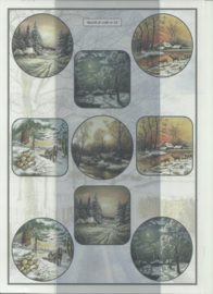 BOWOC 100-0014-KN landschap metalic knipvel