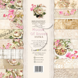 LZP-HOUSE01 -Set of scrapbooking papers - House of roses EXTRA