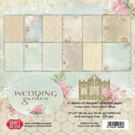 117020/0730-Craft&You Wedding Garden Big Paper Set 12x12 12 vel CPS-WG30