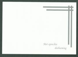 CON 100-88021 witte passe-partouts dikke strepen boven