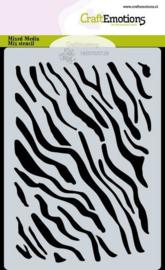 185070/0129-CraftEmotions Mask stencil tijger-zebra print A6