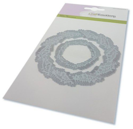 115633/0532-CraftEmotions Die - krans van dennentakken Card 10,5x14,8cm
