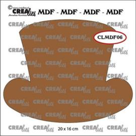 CLMDF06-Crealies • MDF Steampunk Hut Damen