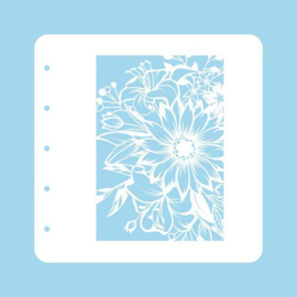 COLST001-Nellie's Choice Schablone für Magnetic colour set Flower-1-A6