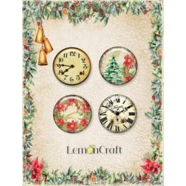 LD-YULEO1-LemonCraft- Buttons/Badge-4 stuks