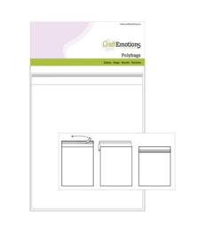890005/1717-CraftEmotions- Taschen selbstschließende transparente- 25pcss- 172mmx172mm