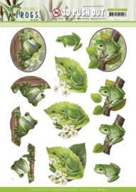 SB10523-3D Push Out - Amy Design - Friendly Frogs - Tree Frogs