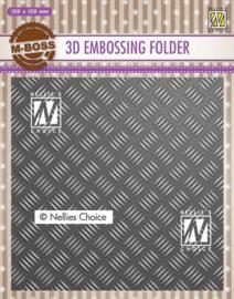 Nellies Choice 3D Emb. folder streeppatroon 1 EF3D024 150x150mm