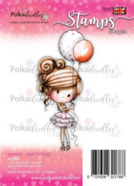 PD7808-Polkadoodles stamp Winnie - Partytime