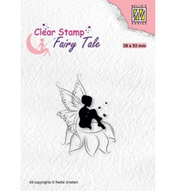 FTCS020 - Nellie Snellen Fairy Tale nr. 18 Elf sitting on flower