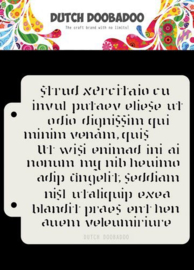 470.715.152-Dutch Doobadoo Dutch Mask Art Script 16,3x14,8cm