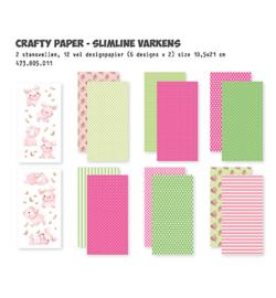 473.005.011 -Dutch Doobadoo Crafty Kit Slimline Varkens