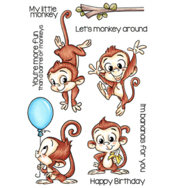 CCD-0132-clear stamp-monkey