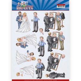CD11482-3D Cutting sheet - Yvonne Creations - Big Guys - Workers - Well Dressed