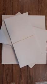 Enveloppen (10 stuks)voor Slimline kaarten, 22x11 cm