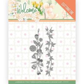JAD10114 - Dies - Jeanine's Art Welcome Spring - Flowers and Leaf Borders