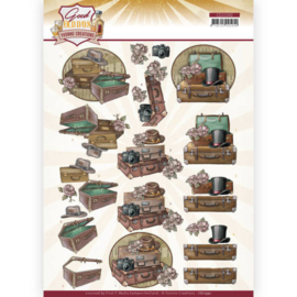 CD11592-3D cutting sheet - Yvonne Creations - Good Old Days - Suitcase