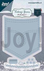 6002/1388 Joy crafts - Stanz-prägeschablone Vintage Hosetasche