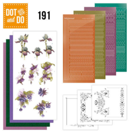 DODO191-Dot and Do 191 - Precious Marieke - Pretty Flowers - Purple Flowers