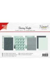 6011/0674-Papierset - Noor - Design Starry Night