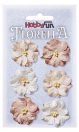 3866 026-FLORELLA-Blüten rosenholz, 3,5cm
