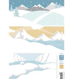 AK0087 - Eline's backgrounds Snow & Ice-MarianneDesign