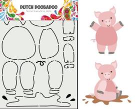 470.713.858-Dutch Doobadoo Dutch Card Art Built up Schwein