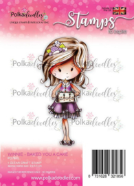 PD7815-Polkadoodles stamp Winnie - Baked you a cake