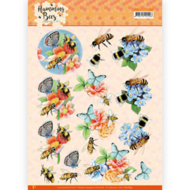 CD11674 - 3D Cutting Sheet - Jeanine's Art - Humming Bees -Bees and Bumblebee