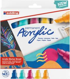 edding-5000 Acrylic Marker set Abstract 5 ST 5-10mm / 4-5000-5-999