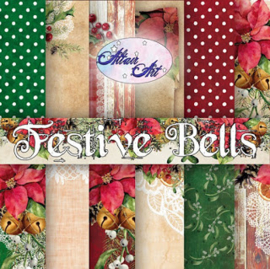 "Alt-FB-100- paper set Festive Bells-12""x12""- 6 double-sided scrapbooking papers"