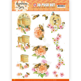 SB10560 - 3D Push Out - Jeanine's Art - Humming Bees - Beehive