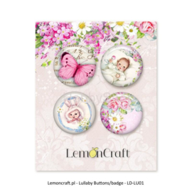 LD-LUO2-Lemon Craft-Button/Badge-4 stuks