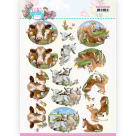 CD11656-3D Cutting Sheet - Amy Design - Enjoy Spring - Farm Animals