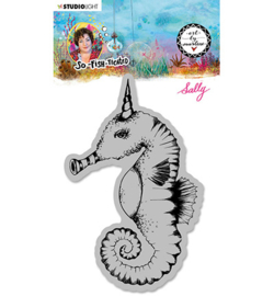 ABM-SFT-STAMP16 - ABM Cling Stamp Sally (Sea horse) So-Fish-Ticated nr.16