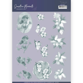CD11521-    3D Cutting Sheet - Jeanine's Art - Sensitive Moments - Grey Lily