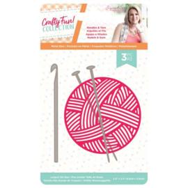 S-CF-MD-NEED-Crafty Fun - Metalen snijmal - Needles & Yarn