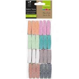 3908-063-Vaessen Creative • Bakers twine assortiment 24x 4m.