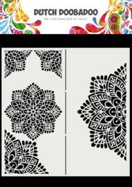 470.784.001-Dutch Doobadoo Dutch Mask Art- Slimline Mandala-210x210mm