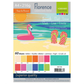 2927-302-Florence • Cardstock smooth A4 12x5 Summer (60 vel)