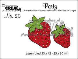 CLPartz25-Crealies-Partzz stans no. 25, Aardbeien