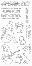 My Favorite Things Toasty Greetings Clear Stamps (BB-85)