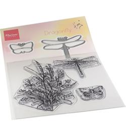 TC0880 - Tiny's Dragonfly stamp & die set