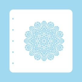 COLST005-Nellie's Choice Schablone Christmas Time - Mandala