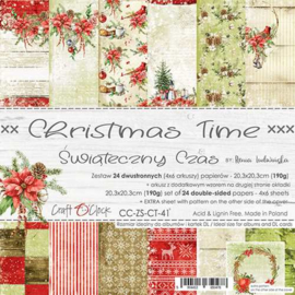 CC-ZS-CT-41 - Craft O'Clock - Christmas Time 20,3x20,3 cm